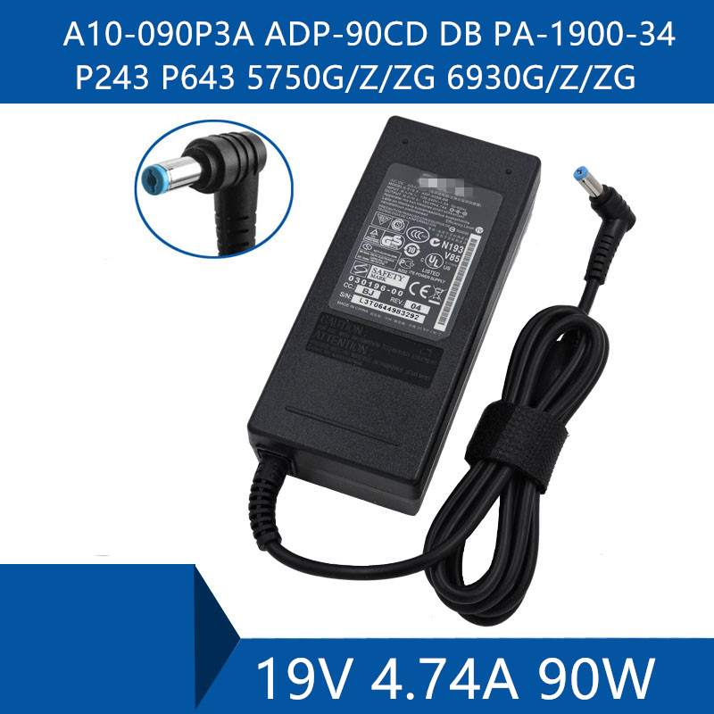Laptop AC Adapter DC Charger Connector Port Cable For Acer A10-090P3A ADP-90CD DB PA-1900-34 P243 P643 5750G/Z/ZG 6930G/Z/ZG