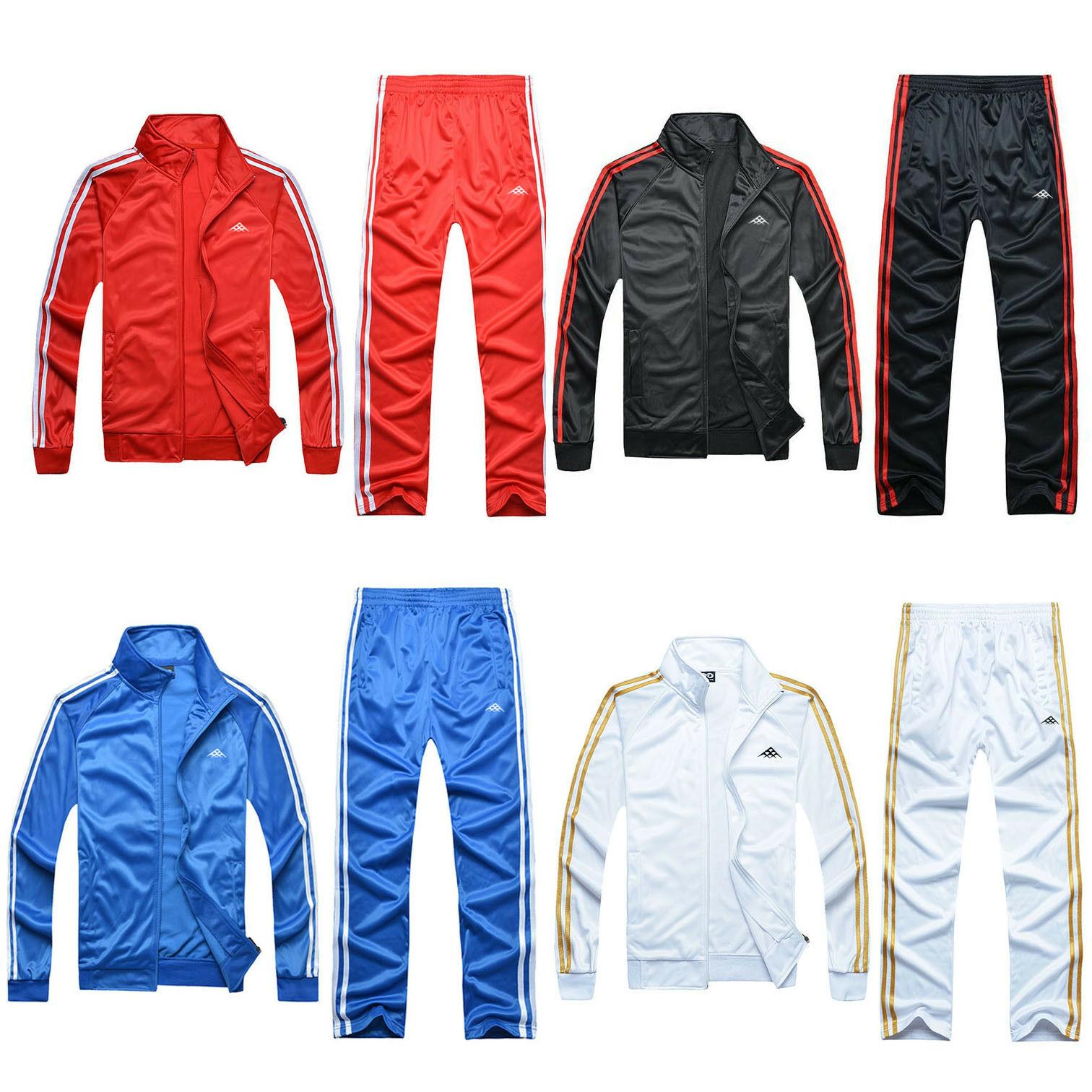 Hommes survêtement Jogging veste Sport costume ensembles pantalons survêtement ensembles barboteuse sweat costumes
