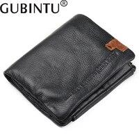 GUBINTU 2017 Men S Purse Made Of Genuine Leather 3 Fold Men Card Holder First Layer