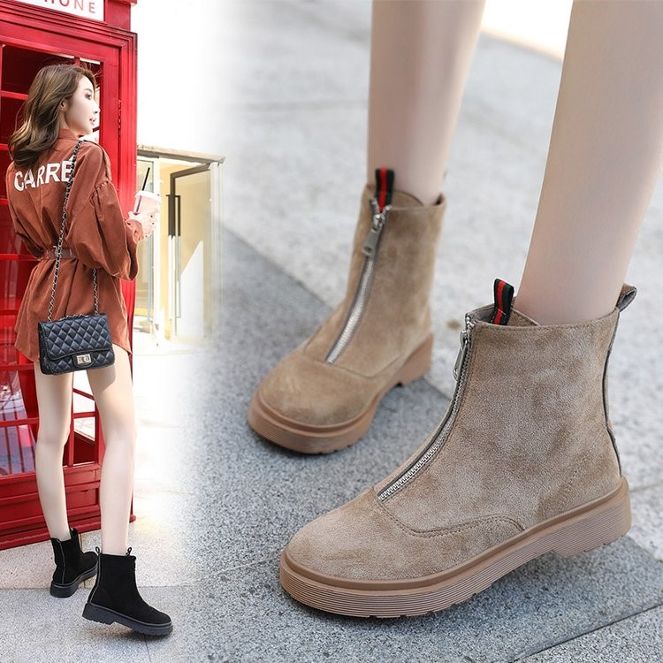 2018 new Martin boots female British wind tube Korean version of the wild ankle boots winter boots. 1