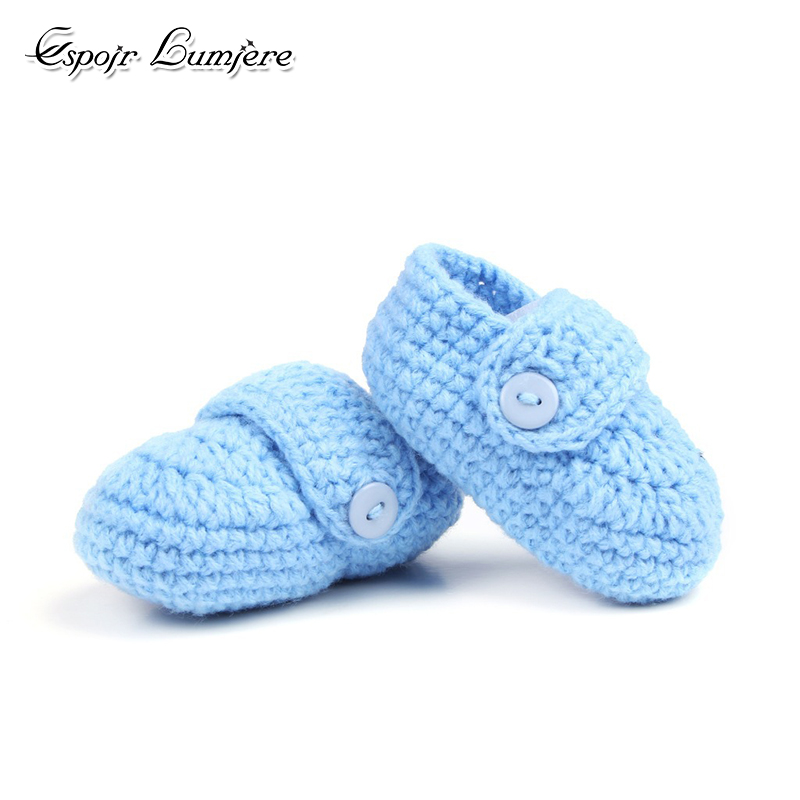 Toddler Boy Shoes Handmade Booties Newbron Baby Crib Shoes Crochet Boy Soft Knit Winter Warm Footwear Infant Baby Sock Boots