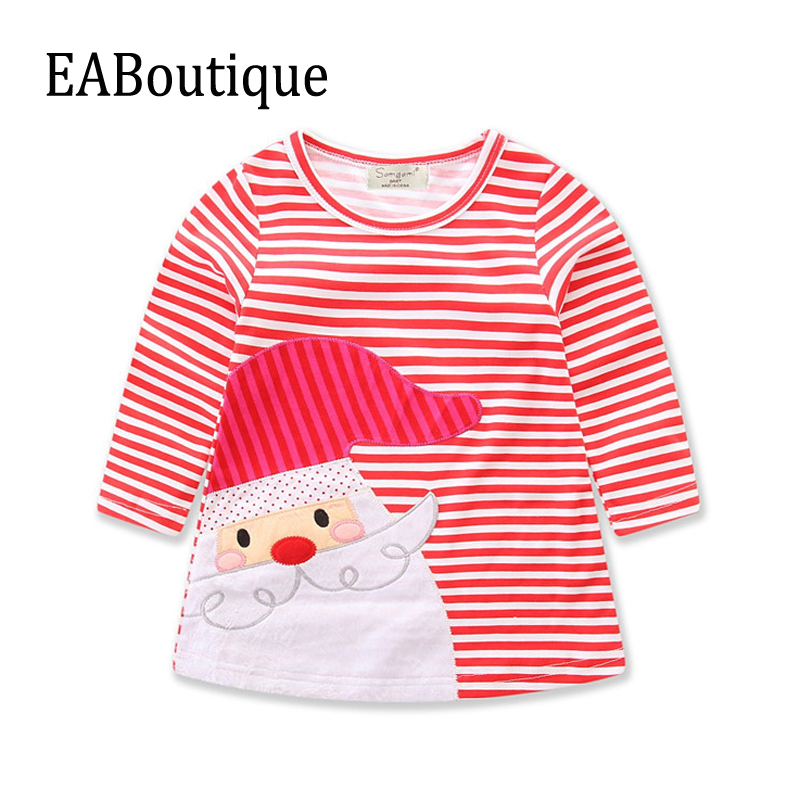 Eaboutique 2017 New Winter Fashion Red Striped With Santa