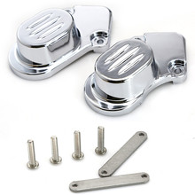 1set Chrome Rear Axle Caps Cover Kit Motorcycle Accessories For 2005-2014 Harley Davidson Sportster XL 883 1200N #7395