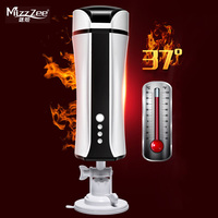 MizzZee Automatic Intelligent Heating Male Hands Free Masturbator USB Rechargeable Suction Cup Real Vagina Adult Sex Toy for Men