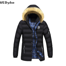 2017 New Casual Fur Collar Hooded Medium Long Chaqueta Invierno Hombre Thick Warm High Quality Mens Parka Coat