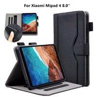 샤오미 mi pad 4 mi pad4 용 pu 가죽 케이스 샤오미 mi pad 4 mi pad4 8.0 ''+ films 용 고급 스마트 태블릿 쉘 소프트 tpu 뒷면 커버|테블릿 & 전자책 케이스|   -