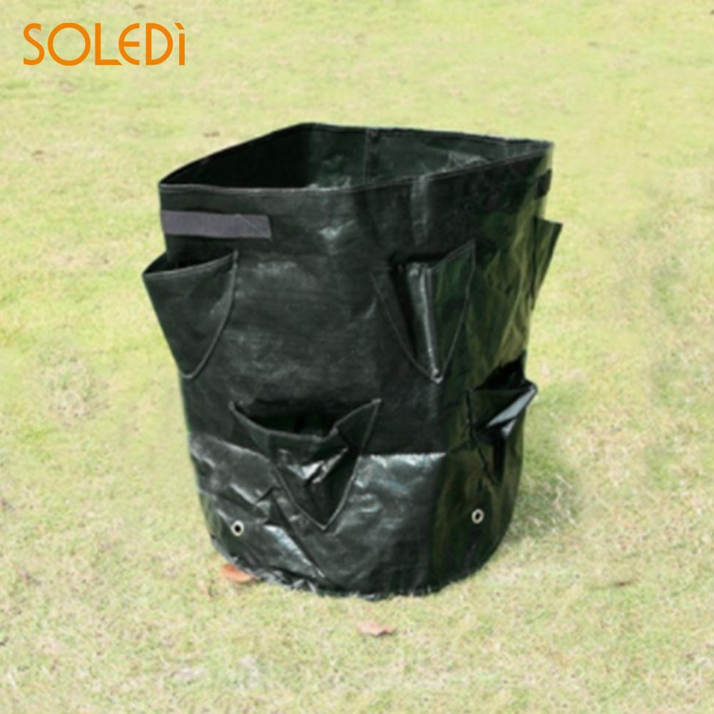 SOLEDI Convenient Creative Strawberry Planter Bags Vegetable Lawn Home Garden Flower Pot Plant Grow Bag DropShipping