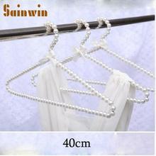 Sainwin 5 шт./партия 40 см Женская жемчужная пластиковая вешалка красивая для розового Белого пальто костюм платье вешалка модные вешалки для одежды