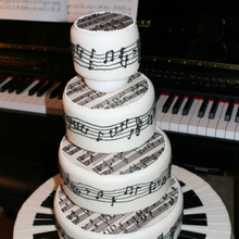 Hot  Musical note Shape Cake Decorating Silicone Mold Chocolate Lace Molds Pastry Baking Tools Wedding Fondant Cake Mould