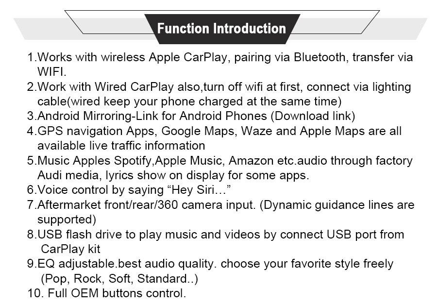 FLASH SALE] Joyeauto WIFI Wireless Apple Carplay Car Play