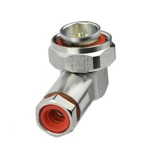 """Image 2 - Superbat 7/16 din macho plug center braçadeira de ângulo direito para 1/2 """"cabo flexível rf conector cabo montagem do cabo"""