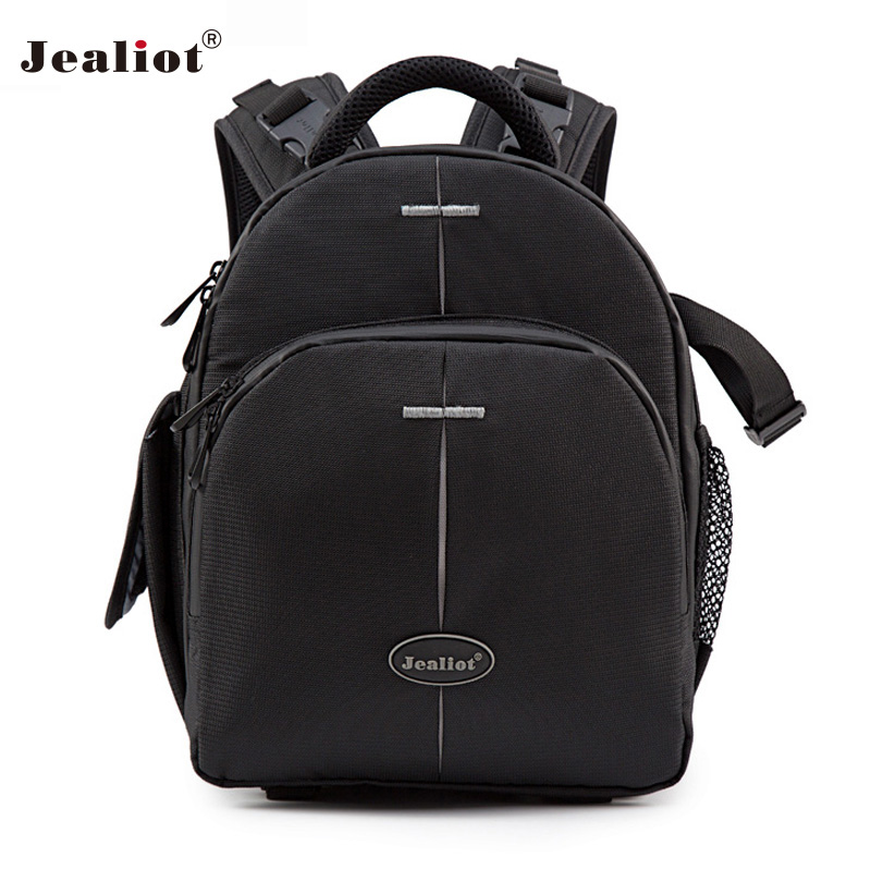 Jealiot Genuine DSLR Camera Backpack Photo Bag waterproof shockproof slr laptop video lens case with All Weather Cover for Canon jealiot professional slr bag for camera shoulder bag photo dslr digital camera bag shockproof video lens case for canon 5d nikon