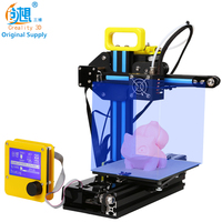 CREALITY 3D Cheap Color 3d Printer CR-7 Full Metal+Mainboard 12864LCD No heating bed, Print 3D Covered Nozzle Safe Gift For Kids