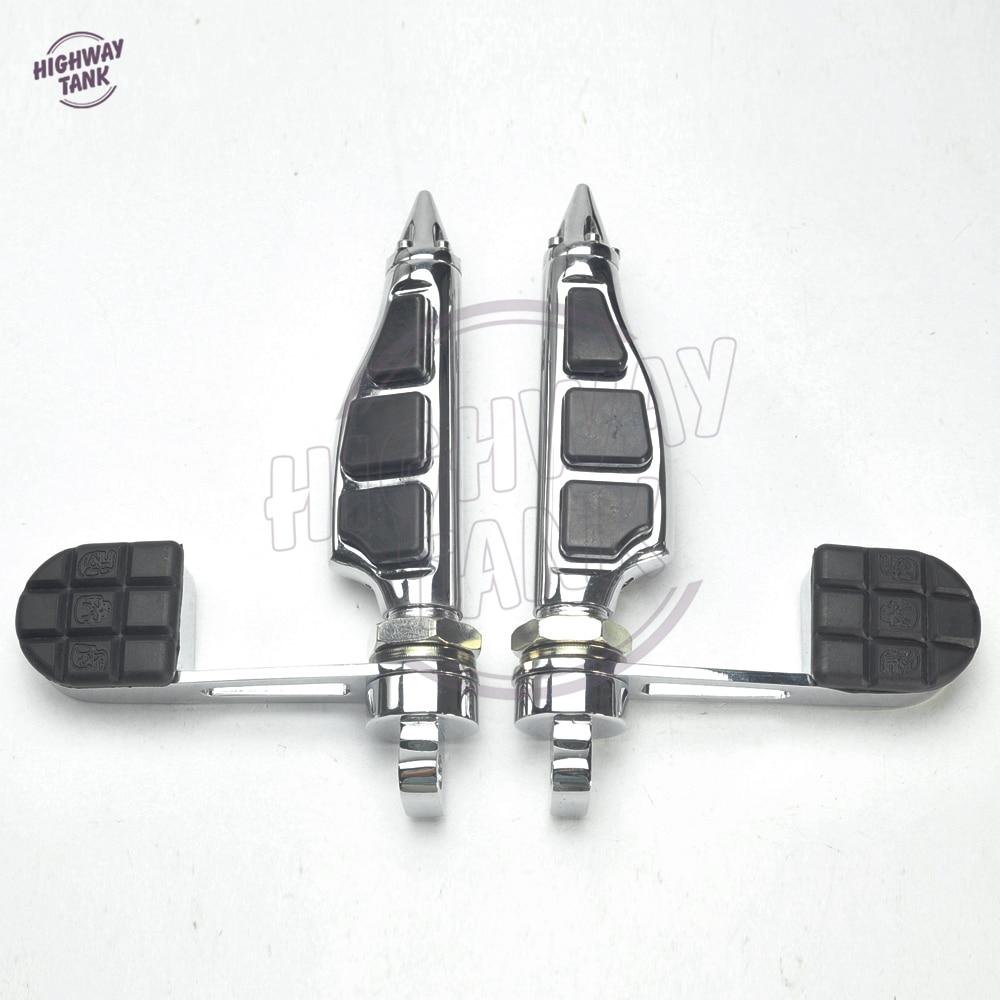Stiletto Motorcycle Foot Pegs Footrest & Heel Stirrup Moto Foot Rest case for Harley Softail Sportster 883 1200 XL FXWG FXR