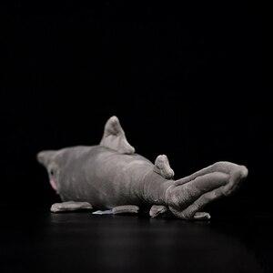 Image 3 - 66 centimetri Lunghi Realistica Goblin Squalo Farcito Giocattoli Super Morbido Realistico Mare Animali Elfin Shark Peluche Giocattolo Per I Bambini