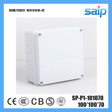 Saip ABS Material Electronic Junction Box With 7 Holes SP-P1-101070 100*100*70mm