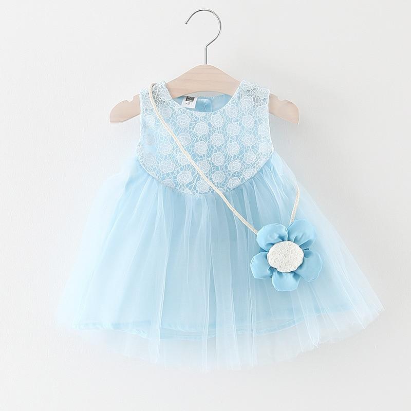 Baby Dress Top Fashion Knee-length Beach Sleeveles...