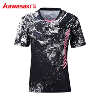 2019 Origina Kawasaki Tennis Shirt Badminton T Shirt Men Quick Dry Short Sleeve Training T Shirts For Male Sportswear ST S1104