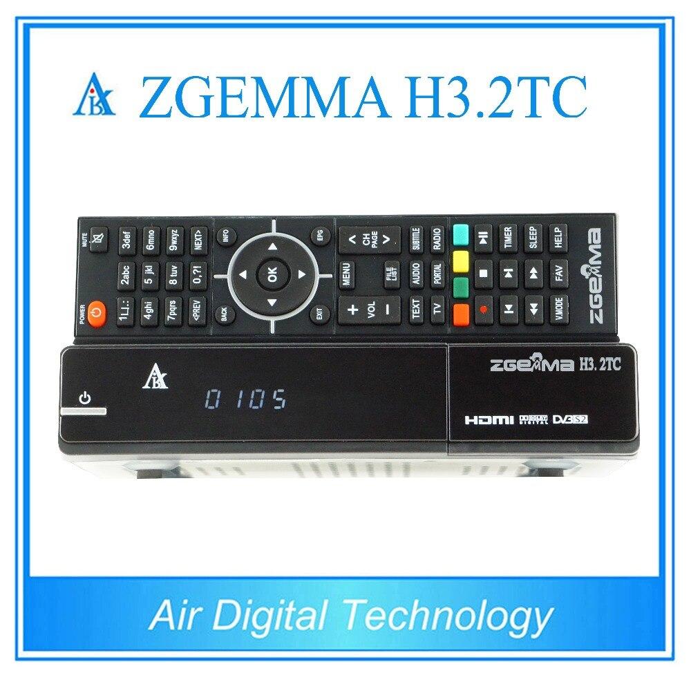 20 pcs zgemma h3.2tc 2017 new tv box twin cable/terrestrial + satellite tv receiver DVB S2 + 2 * DVB C/T2 dvb t2 dvb tv receiver w remote controller black