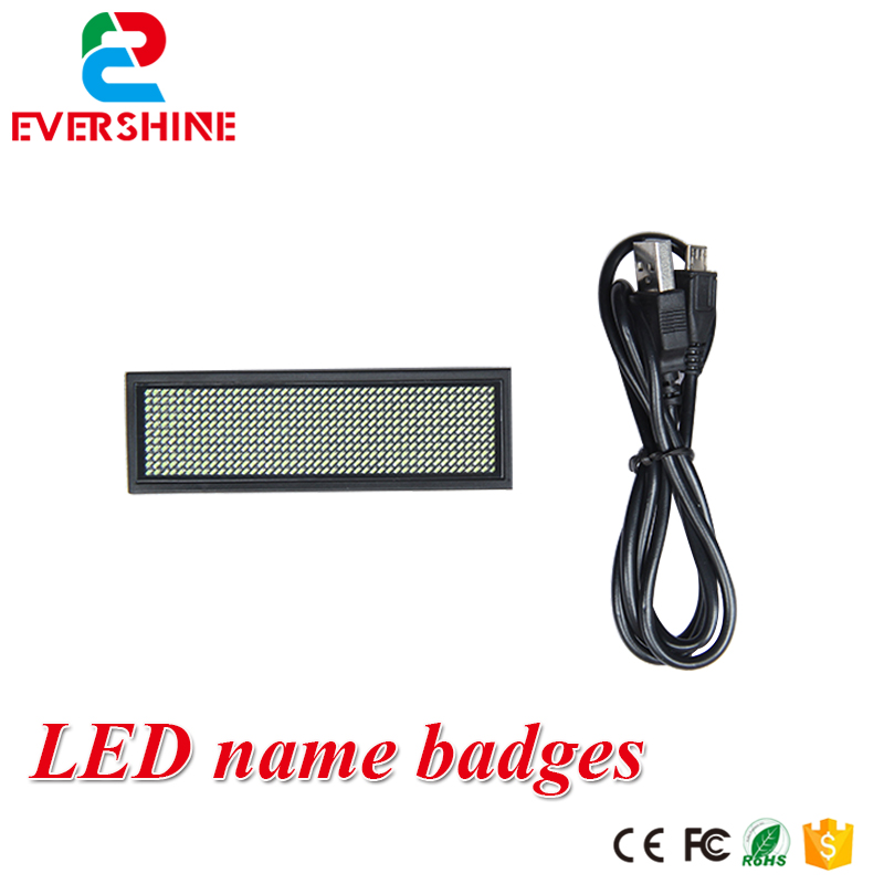 Programmable sign moving Led message display board  44x11 dots green color led name badges can rechargeable bus video led sign p5 flashing led route sign in china