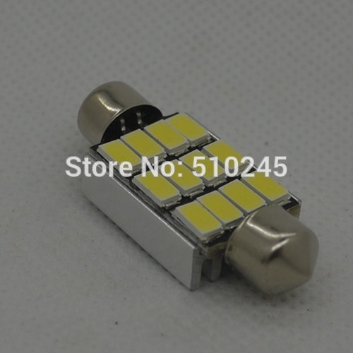 100X 39mm Festoon 12 SMD 5630 5730 LED CANBUS 12V Car Reading License plate light No Error white free shipping