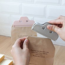 Kitchen Food Storage Bag Sealer Home Clothespin Office Paper Files Clips Plastic Sealer Clamp Snack Seal Pocket Holder(China)