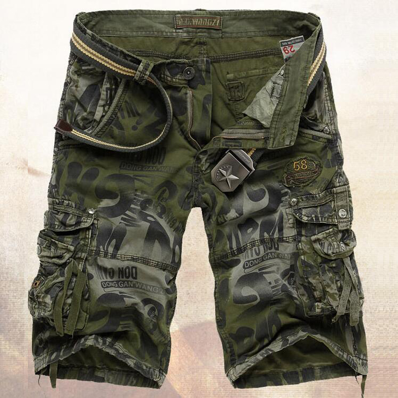 2017 Male Military Shorts Summer Men s Camouflage Army Cargo Shorts Workout Shorts Homme Casual Bermuda