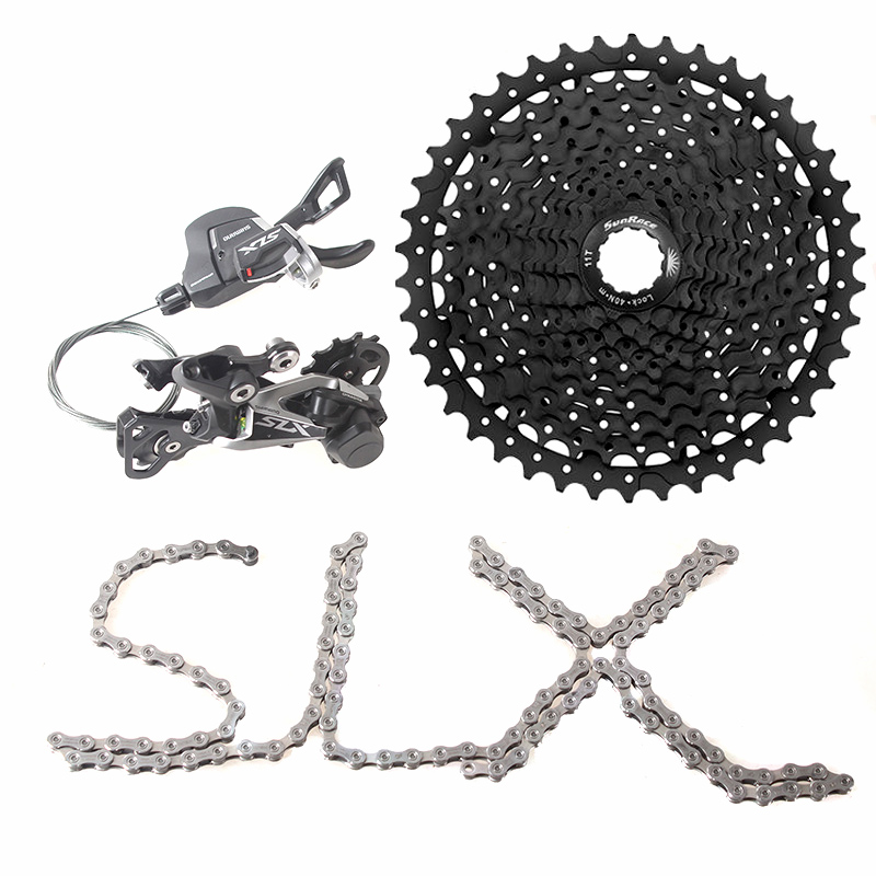 SHIMANO SLX M7000 1x11 11S Speed Shifter+Rear Derailleur+Chain+ Sunrace CSMS8 11-46T Cassette Groupset Kit shimano slx m7000 1x11 11s speed 11 42t 11 46t groupset contains shift lever
