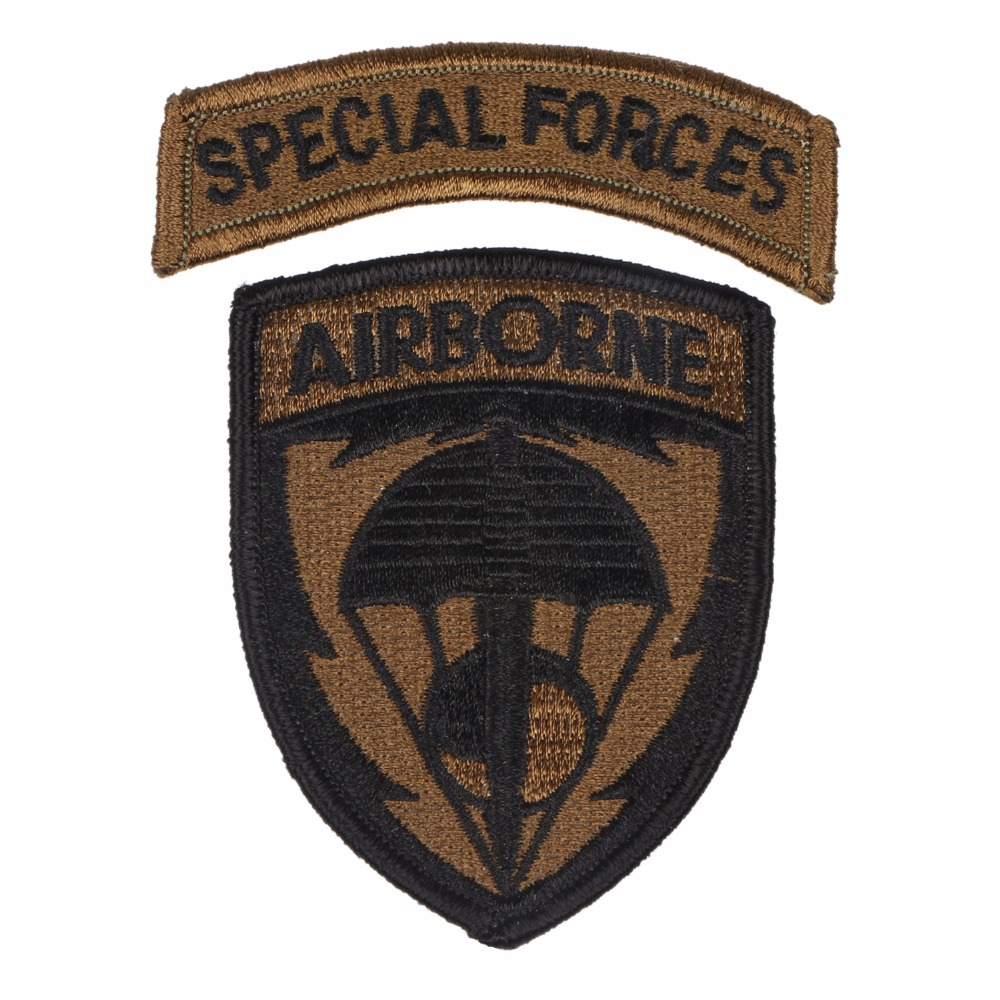 US UNITED STATES SPECIAL FORCES AIRBORNE EMBROIDERED PATCH OD