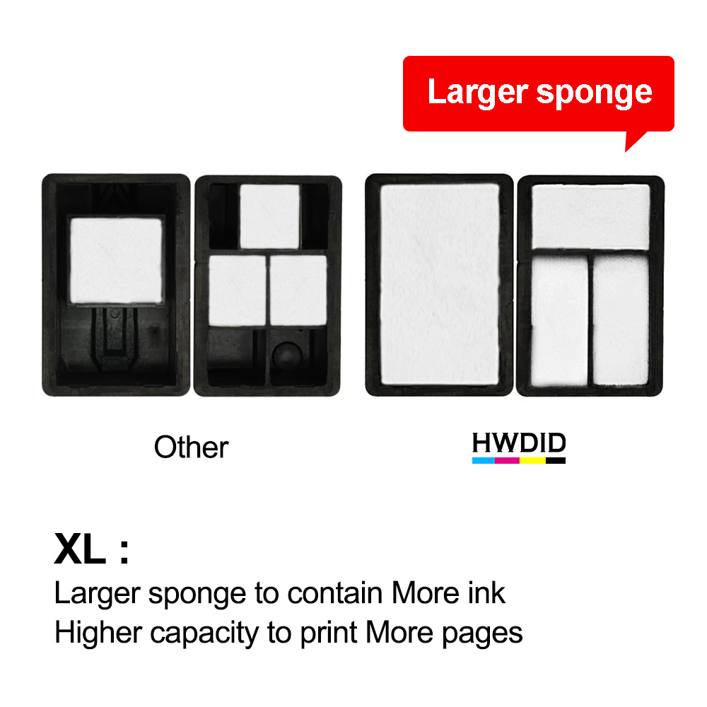 Image 4 - HWDID 61XL Refilled Ink Cartridge replacement for HP 61 XL for HP