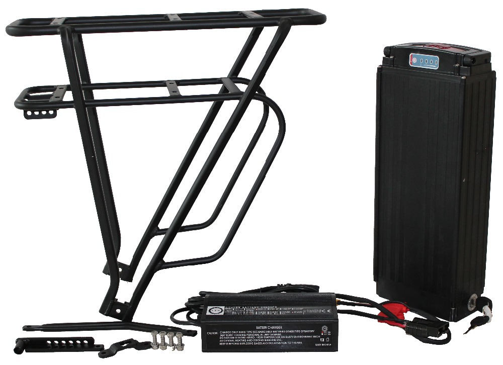 ConhisMotor Ebike 48V Rear Carrier with Battery Case(without cell and charger ) Electric-Fat -Bike free shipping 48v 15ah battery pack lithium ion motor bike electric 48v scooters with 30a bms 2a charger