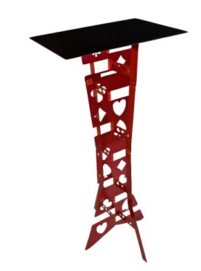 Alluminum alloy Magic Folding Table,red color,Magician's best table,magic trick,stage,illusions,Accessories