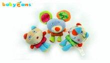 Babyfans Three new kids babyfans infant wrist  strap handbells rattle safty environmental developmental baby toys age 3+ months