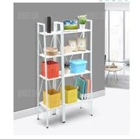 LADDER BOOKCASE WHITE BIGLANGRIA 4 Tier Ladder Bookcase Storage Shelves And Display Standing Shelving Unit 23