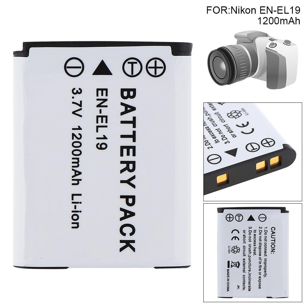 EN-EL19 Li-ion Rechargeable Digital Camera Battery for Nikon Coolpix S100 S2500 S2750 S3100 S3200 S3300 S3400 S3500 S4150 S4200