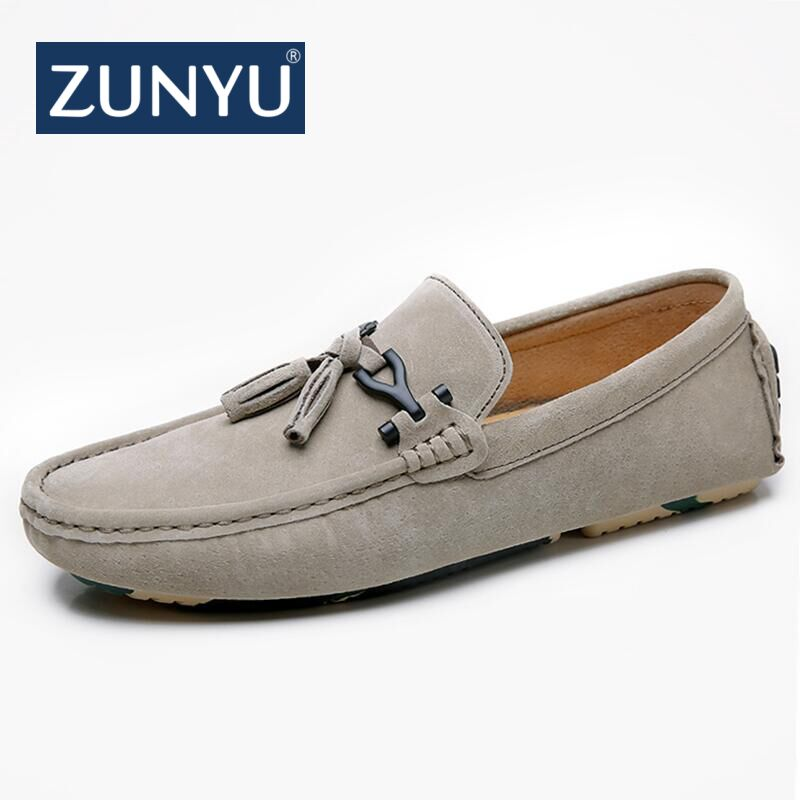 ZUNYU Brand New Fashion Spring Summer Men Driving Casual Shoes Loafers Genuine Leather Boat Shoes Breathable Male Flats Loafers synthetic leather men shoes spring male casual shoes new 2017 fashion leather shoes loafers men s shoes flats zapatillas