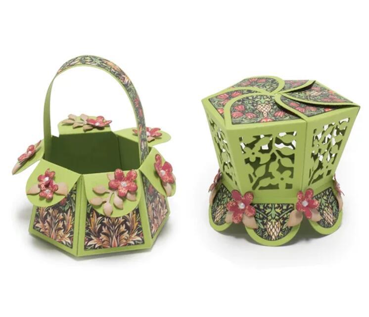 M62 Flower basket Metal Cutting Dies Stencil for DIY Scrapbooking Embossing Paper Cards Decorative Craft Diecuts