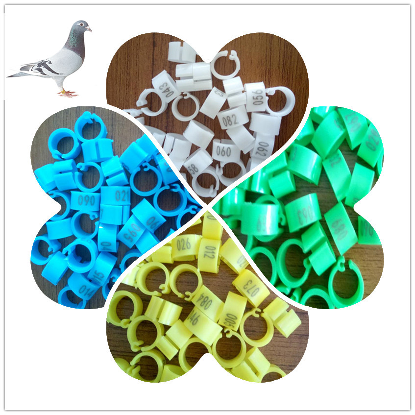 100 pcs Chicken Hen Pigeons Rings 8mm Bayonet Identification Ring Opening Pigeon Ring Color Pigeon Foot Ring 1 100 numbers in Bird Training from Home Garden