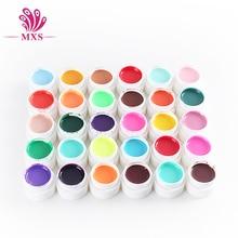 Venta caliente 30 Pure Color Gel UV Nail Art Puntas de DIY Decoración de Uñas de Manicura de Uñas de Gel Polaco Extensión C022