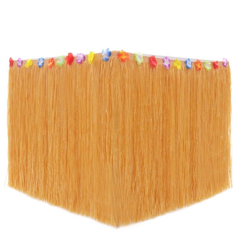Гавайская Юбка для стола «сделай сам», 60 см, Пластиковая юбка из Луау, цветов, травы, для пляжа, свадьбы, вечеривечерние, украшения сада, скате...