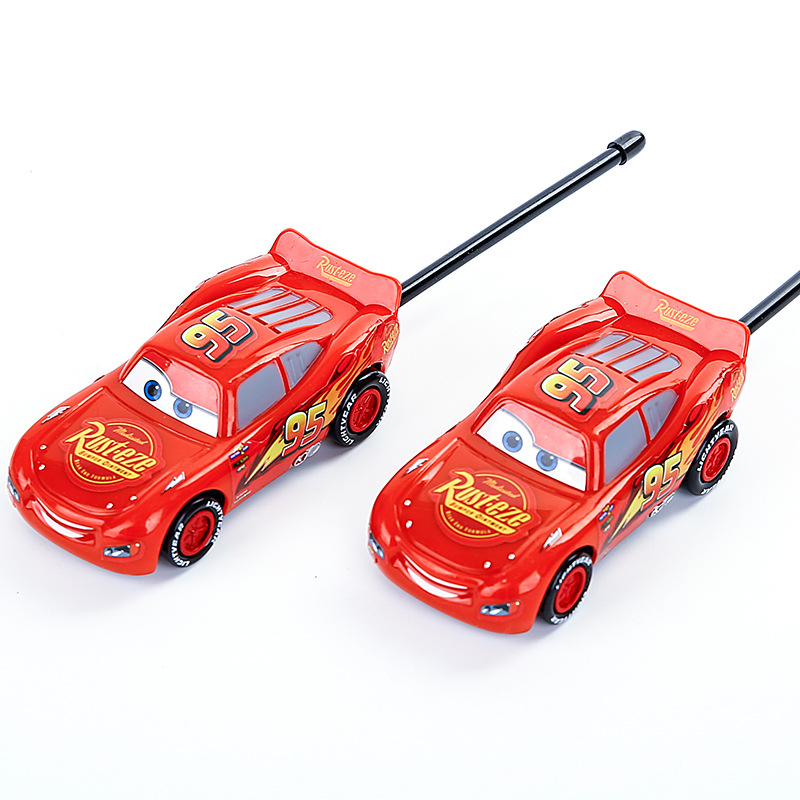 Disney Lightning McQueen Children's Toys Outdoor Wireless Handheld Cars Intercom Phone Pair Kids Toys Children Birthday Gift