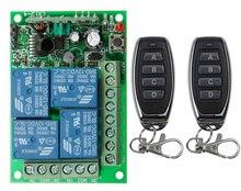 ユニバーサルdc 12v 24v 10Aリレー4CH 4 ch無線rfリモートコントロールスイッチトランスミッタ + レシーバモジュール、315/433 mhzのガレージドア