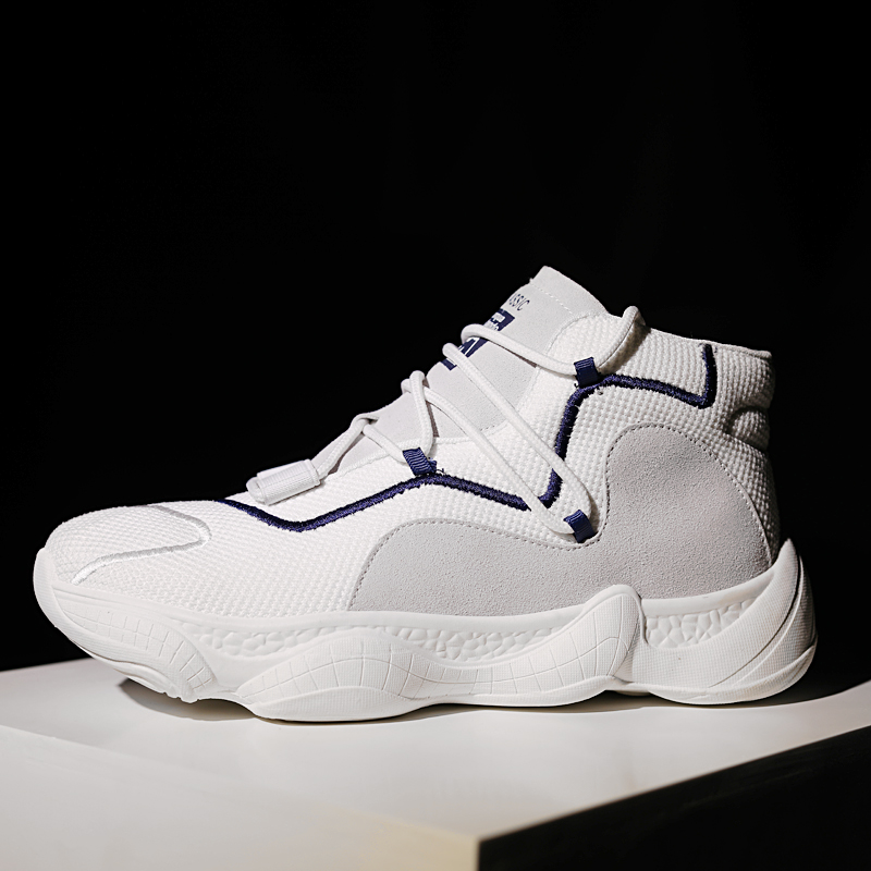 The new explosion of Zhongbang basketball shoes sports and leisure mesh shoes ,sneakers Soft and folding sole