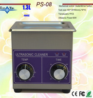 AC 110v/220v PS 08 Ultrasonic cleaner heater&timer 1.3L 40KHZ for coin,ring,small parts