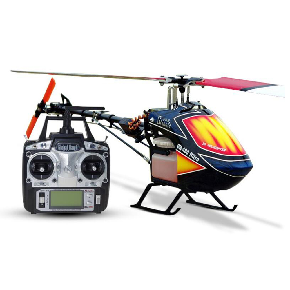 Gleagle 480N 2.4G 6CH RC Brushless Fuel Helicopter RTF Set W/ Gift box DFC 15-Engine 180CC Nitro helicpter 60A ESC/Carbon fiber global eagle 2 4g 480e dfc 9ch rc helicopter remote 3d drones rtf set 9ch rc 1700kv motor 60a esc carbon fiber body