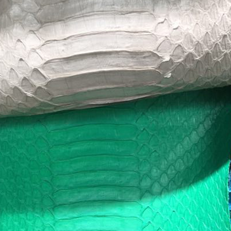 100% Genuine Finished Long Belly Matte Cutted Snake  Leather For Shoes/wallets ,Free Shipping