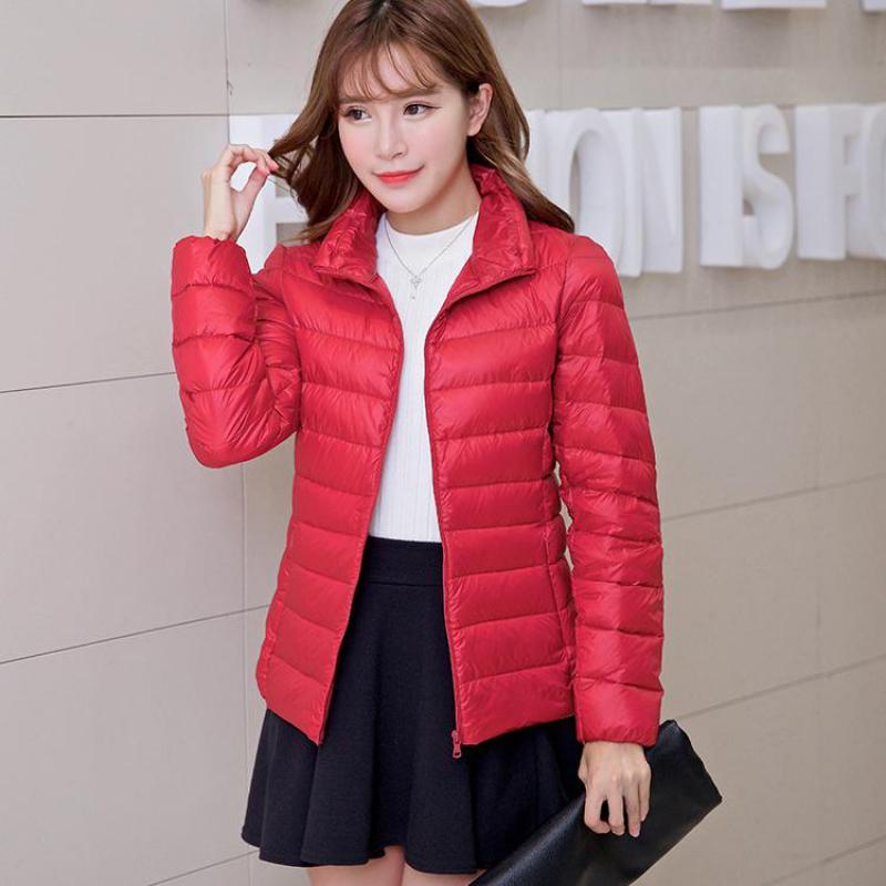 Women's New Autumn Short   down   jacket 2018 Korean Slim Fashion Lightweight Blouse Casual jackets top Female   Down     Coats   M-XXXL