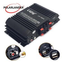 Lepy LP168S 12 В Мощный сабвуфер 2,1 канал Авто Аудио Бас выход HiFi стерео звук с функцией AUX автомобильный усилитель громкий динамик