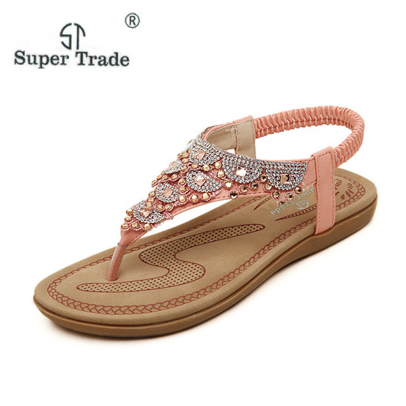 Hot New Sweet Shoes Women Summer style Women Shoes Flip Flops Sandals Women beach plus size 35-40 wholesale free shipping ST75-8 siketu 2017 new summer beach slipper flip flops sandals women mixed color casual sandals shoes flat free shipping plus size