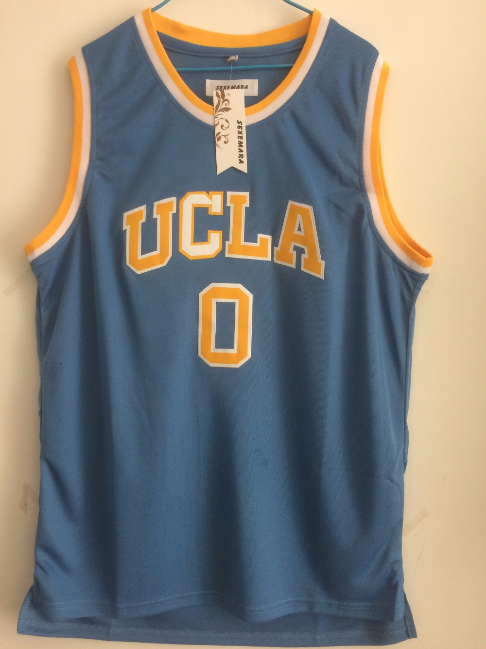detailed look 0606c 3f3e8 cheap russell westbrook ucla bruins home retro jersey 95193 ...